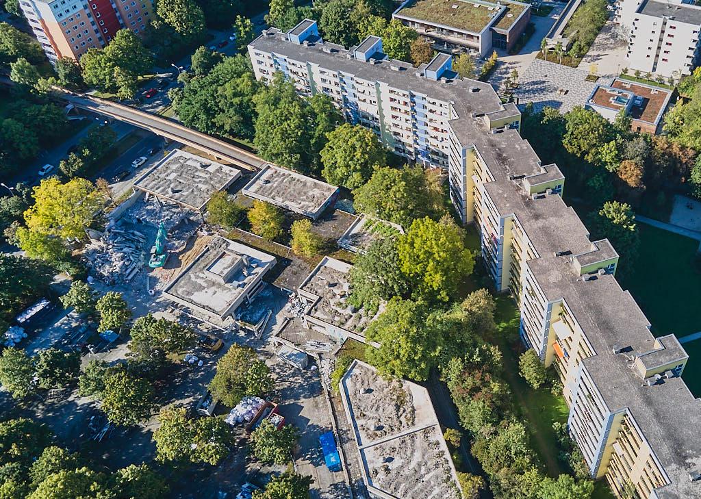 Abris Quiddezentrum in Neuperlach